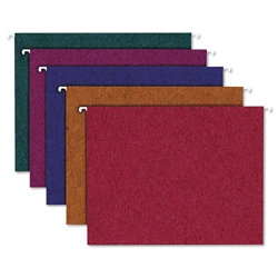 20 Recycled Letter Size Hanging File Folders, 92005