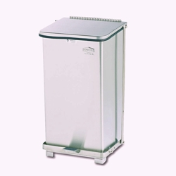 Stainless Steel Step-On Medical Waste Receptacle - 12 Gallon Capacity, 85931
