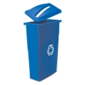 23-Gallon Slim Jim Recycling Receptacle with Paper Lid, 91040