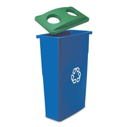 23-Gallon Slim Jim Recycling Receptacle with Can Lid, 91042