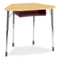 Adjustable Height Trapezoid Desk, 11309