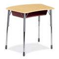 Adjustable Height Bowfront Desk, 11310