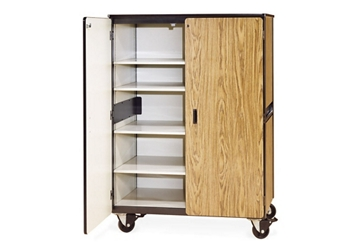 """66""""H Mobile Teacher Storage Cabinet with 5 Shelves, 36262"""