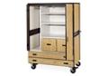 Mobile Teacher Wardrobe Cabinet with Storage, 36261
