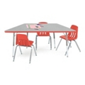 "Trapezoid Shaped Activity Table 60"" x 30"", 46336"