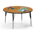 "Round Adjustable Height Utility Table - 48"" Diameter, 41607"