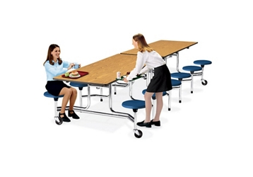 10' Cafeteria Table with Stool Seating, 44410