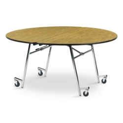 "Round Mobile Folding Table- 72""Dia, 41389"