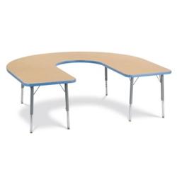 """Horseshoe Shaped Activity Table 66"""" x 60"""", 46337"""
