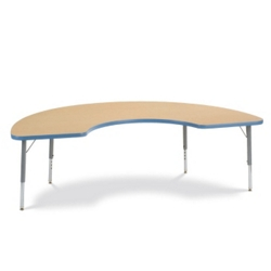 "72"" x 36"" Half-Moon Shaped Activity Table, 46340"