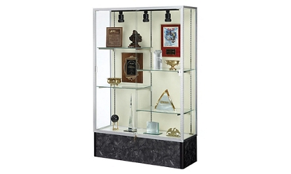 "48"" Wide Lighted Floor Display Case, 31577"