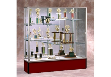 "72"" Wide Spirit Display Case with Mirror Back, 36288"