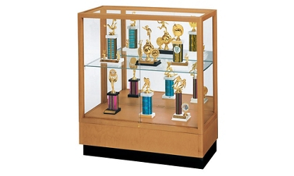 "Poplar Trophy Display Case with Fabric Back - 36""W x 40""H, 36809"