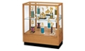 "Oak Trophy Display Case with Mirror Back - 36""W x 40""H, 36814"