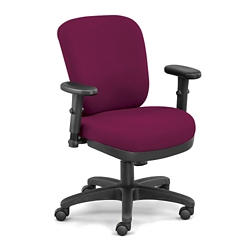 Compact Ergonomic Fabric Chair, 56565