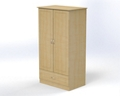 "Two Door and One Drawer Wardrobe Cabinet - 72""H , 26569"