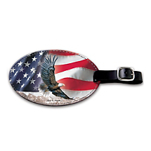 Salute Our Freedoms When Traveling with this Patriotic Bag Tag