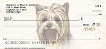 Yorkie Dog Personal Checks