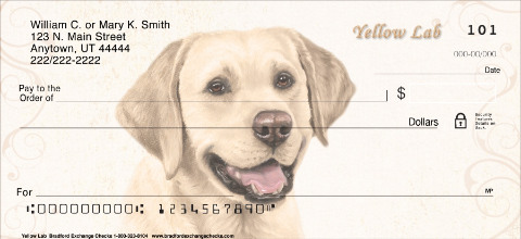 Yellow Lab Dog Personal Checks