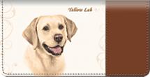 Yellow Lab Dog Checkbook Cover