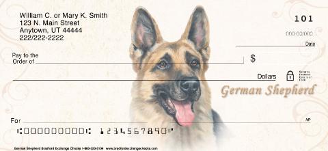 German Shepherd Portrait Personal Checks