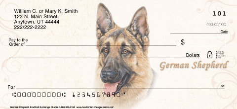 German Shepherd Dog Personal Checks