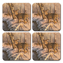 Nature's Wildlife Comes to Life on These Beautiful Deer Coasters