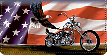 Ride Hard. Live Free Patriotic Motorcycle Checkbook Cover