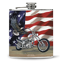 You'll Taste Freedom and Power in Every Sip with this Patriotically Clad Flask