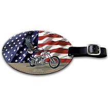 All-American Pride Goes Along for the Ride with this Patriotic Bag Tag
