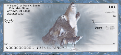 Spirit of the Wilderness Wolf Personal Checks