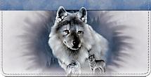 Spirit of the Wilderness Wolf Checkbook Cover