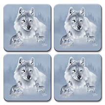 Guests Will Go Wild for this Wolf Pack Coaster Set