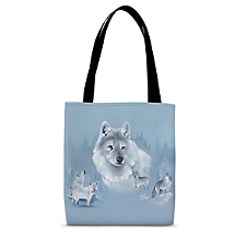 Tap Into Your Spiritual Wolf Energy as You Bring this Carryall Out and About