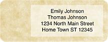 Parchment Return Address Labels