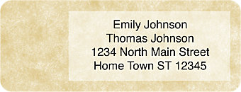Parchment Return Address Labels