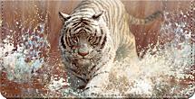 Vanishing Treasures Tiger Checkbook Cover