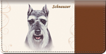 Schnauzer Dog Checkbook Cover