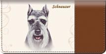Schnauzer Dog Checkbook Cover