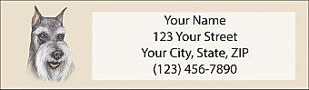 Schnauzer Return Address Label