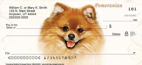 Pomeranian Portraits Personal Checks
