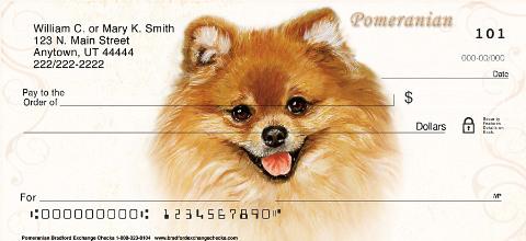 Pomeranian Dog Personal Checks
