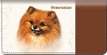 Pomeranian Dog Checkbook Cover