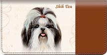 Shih Tzu Checkbook Cover