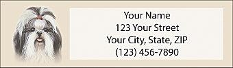 Shih Tzu Return Address Label