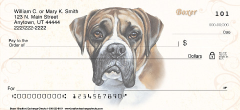 Boxer Dog Personal Checks