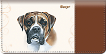 Boxer Dog Checkbook Cover