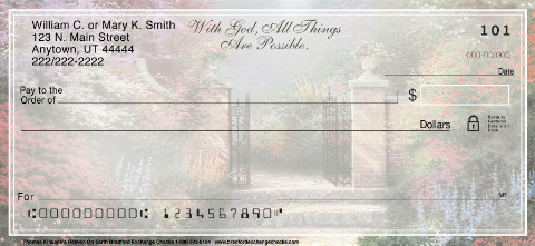 Thomas Kinkade's Heaven on Earth Personal Checks