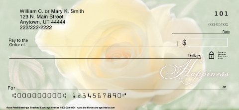 Rose Petal Blessings Personal Checks