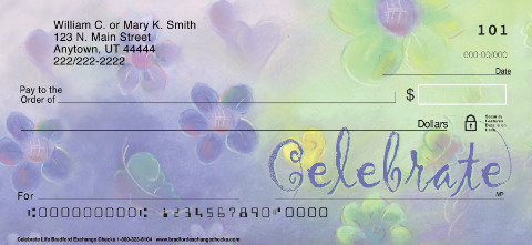Celebrate Life Personal Checks